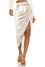 BB Dakota Shiny Dancer Ruched Skirt in Silver
