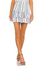 BB Dakota JACK by BB Dakota Smock Treatment Skirt in Multi Stripe