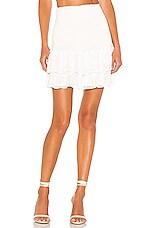 BB Dakota Girl Meets Ruffle Mini Skirt in Ivory