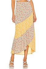 BB Dakota All Mixed Up Skirt in Lemon Drop