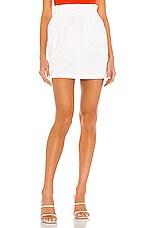 BB Dakota In The Bag Mini Skirt in Optic White