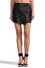 BB Dakota Sebastian PU Wrap Skirt in Black
