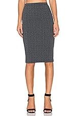 Jack by BB Dakota Cascade Pencil Skirt in Charcoal Grey
