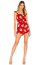 BB Dakota Daffodils and Chill Romper in Berry Red
