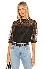 BB Dakota Icing On Top Lace Top in Black