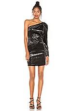 BCBGMAXAZRIA One Shoulder Dress in Black