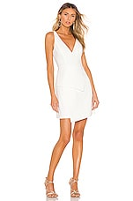 BCBGMAXAZRIA Asymmetrical Dress in Off White