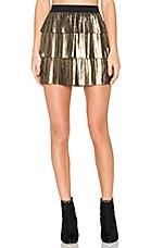 Zana Skirt in Gold & Black