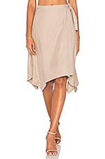 BCBGMAXAZRIA Handkerchief Skirt in Light Hazelnut