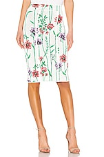 BCBGMAXAZRIA Sweater Pencil Skirt in Gardenia Combo