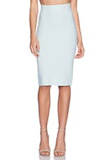 Leger Pencil Skirt in Aqua Mist