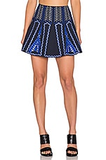 Bronwyn Embroidered Mini Skirt in Ink Combo