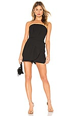 BCBGMAXAZRIA Strapless Romper in Black