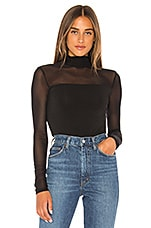 BCBGMAXAZRIA Mesh Bodysuit in Black