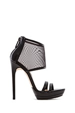 Ferned Mesh Pumps in Black