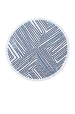 The Beach People The Avalon Round Towel in Navy Blue & White