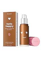 Benefit Cosmetics Hello Happy Flawless Brightening Liquid Foundation in 09 Deep Neutral