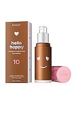 Benefit Cosmetics Hello Happy Flawless Brightening Liquid Foundation in 10 Deep Warm