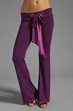 Lounge Glitter Bunny Booty Pant in Plum