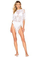 Beach Bunny Indian Summer Lace Poncho in White