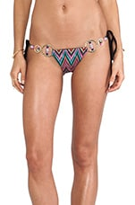 Zig Zag Skimpy Bottom in Multi