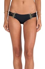 Corset Skimpy Bottom in Black & Gold