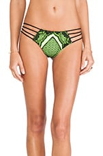 It's Electric Brazilian Bikini Bottom in Black & Electric Yellow