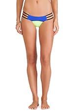 Form & Function Skimpy Bikini Bottom in Blue & Yellow