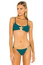 Beach Bunny Lexi Bralette Bikini Top in Teal