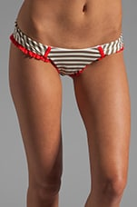 We Found Love Skimpy Bottom in Brown Stripe