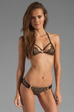 Gunpowder & Lace Bikini Top in Black