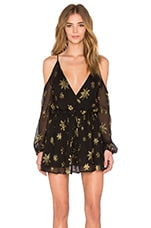 Astral Dancer Cut Away Dress en Gold Star