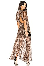 BEC&BRIDGE Kitty Kat Maxi Dress in Leopard Print