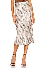 BEC&BRIDGE Python Midi Skirt in Snake Skin Print