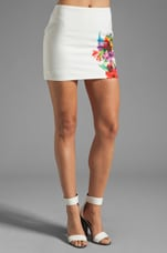 Bouquet Skirt in White