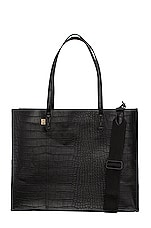 BEIS Work Tote in Black Croc