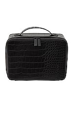 BEIS Cosmetic Case in Black Croc