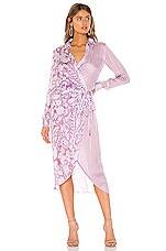 HEMANT AND NANDITA Zoya Midi Dress in Purple