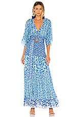 HEMANT AND NANDITA Suho Maxi Dress in Blue