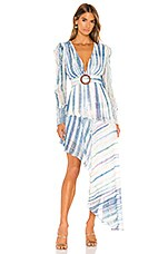 HEMANT AND NANDITA Esme Maxi Dress in Blue White