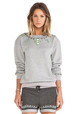 Crystal Sweatshirt in Light Grey