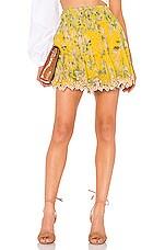 HEMANT AND NANDITA Terra Skirt in Yellow