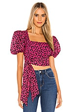 HEMANT AND NANDITA X REVOLVE Rica Side Cascade Blouse in Red