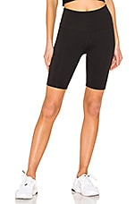 Beyond Yoga High Waisted Biker Short in Jet Black
