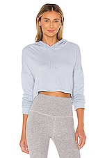 Beyond Yoga Wonders Never Fleece Super Cropped Hoodie in Blue Bells