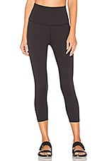 Beyond Yoga High Waist Capri Legging in Jet Black