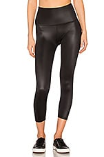 Gloss Over High Waist Capri in Black Gloss