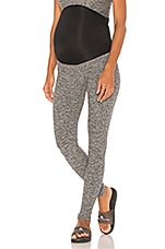 Beyond Yoga Fold Down Maternity Legging in Black-White