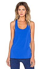 Sleek Stripe Low Cut Tank in Bright Lapis