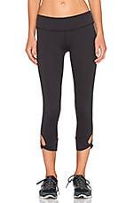 Twisted Cuff Capri Legging in Black